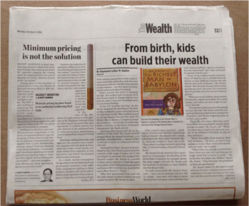 Business World, The Wealth Manager section