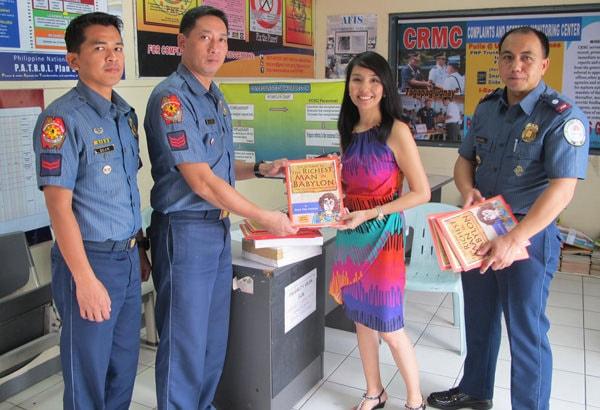 The Retelling of The Richest Man in Babylon books donated to the Aklat: Gabay sa Kinabukasan ng Kabataan tungo sa Mapayapang Pamayanan project of the PNP
