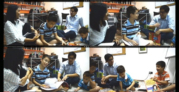 Interview with Edric Mendoza & sons Elijah, Edan and Titus on the floor one weekday morning