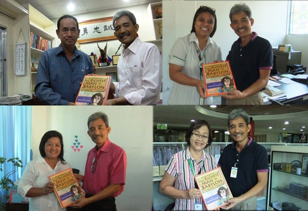 Visayas schools 2: Book donations to Hwa Siong College of Iloilo, University of Iloilo, Sibalom National High School and St. Paul University Iloilo. with Pol Espanola as the author's representative