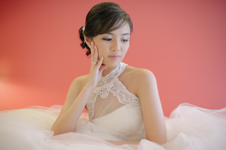 Katzi (Kathleen Marie Fres Felix-Santos) in her dream wedding gown