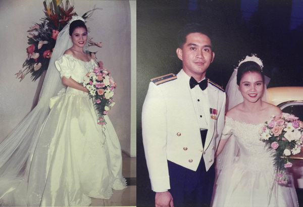 Karen's wedding in 1995 to Nick Pongos