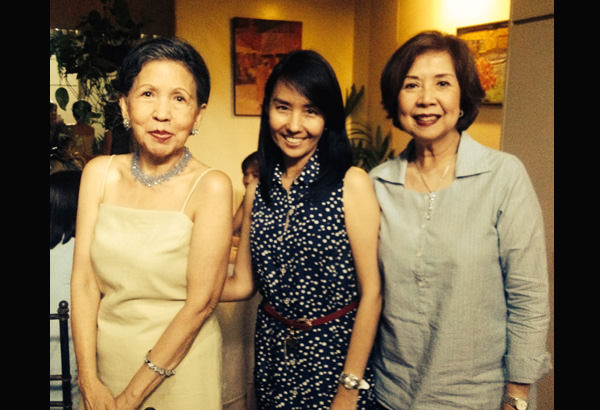 L-R: Malu Veloso, the author, my Auntie Livie Ferry who was our ninang in our weddings in 1989 and 2014