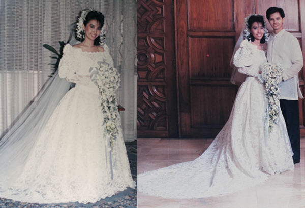 The author's wedding on August 12, 1989 to Marvin Fausto