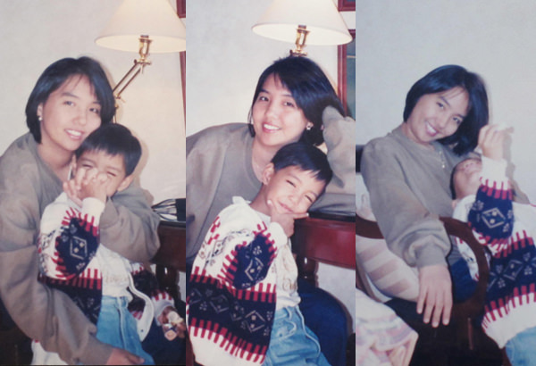 The author with her preschool-aged son Enrique