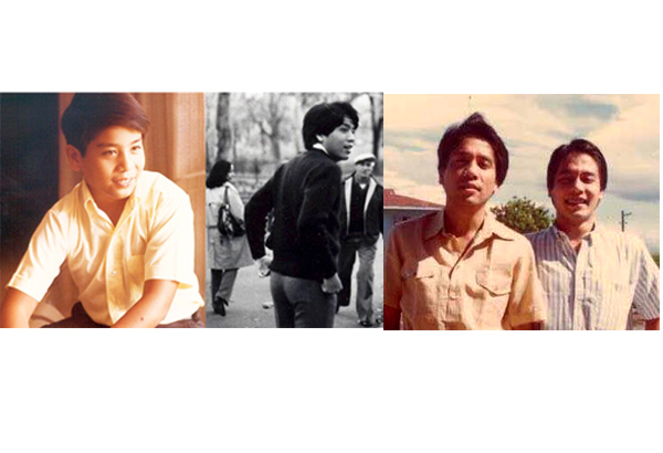 The young Mar Roxas, as student at the Ateneo, Wharton, and with younger brother Dinggoy.