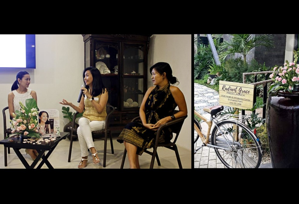 Left to Right: Women featured during the press launch of Radiant Grace – Janina Ibazeta Dizon, the author, Marie Cavosora.