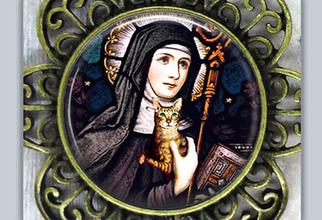 St. Gertrude of Nivellas: Patron Saint of Suriphobia (fear of mice)