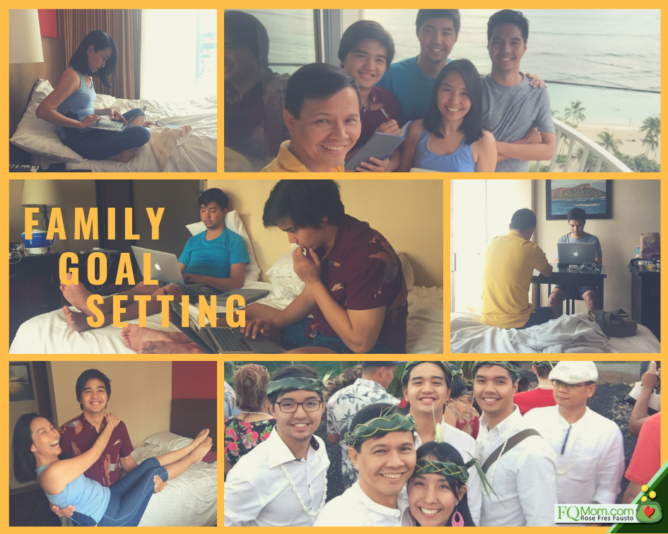 Fres Fausto family goal setting for the year 2018 in Hawaii