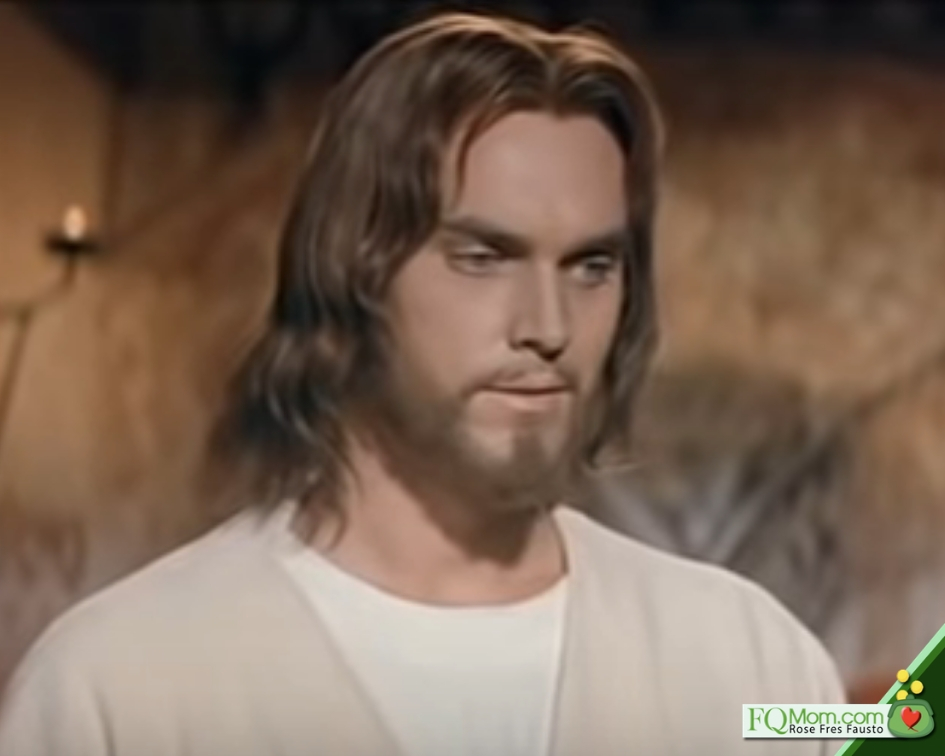 Jeffrey Hunter as Jesus Christ in the 1961 film, King of Kings. To see the trailer of this film, you may click this link.