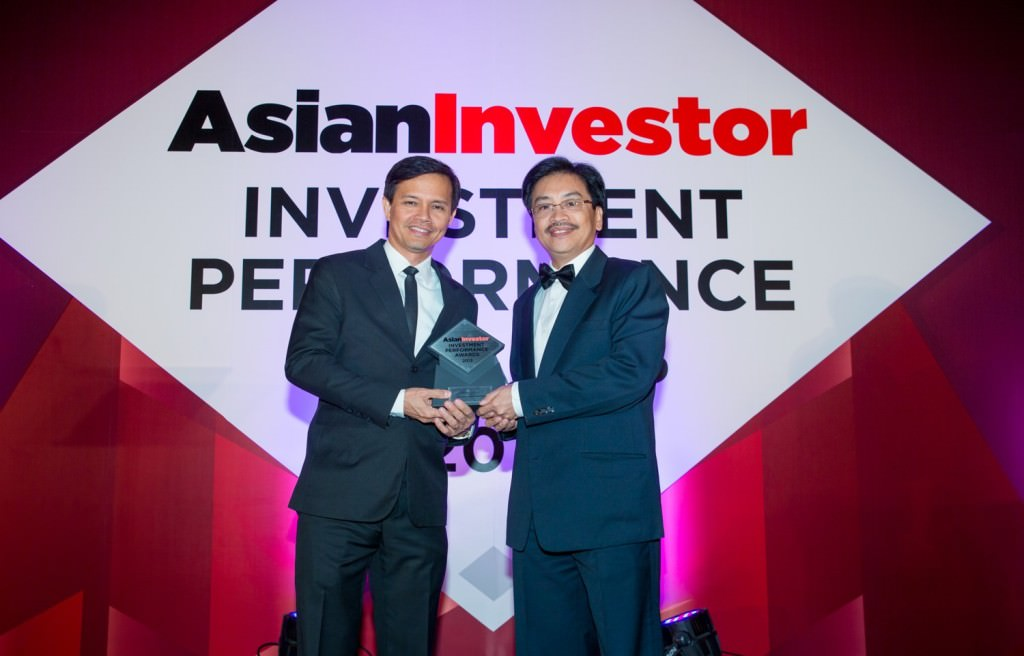 2013 Best Fund Award by Asian Investor received by Marvin Fausto and Ador Abrogena