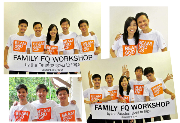"""Photo shoot for """"Family FQ by the Faustos goes to Iriga City"""" on Sept. 6, 2015"""