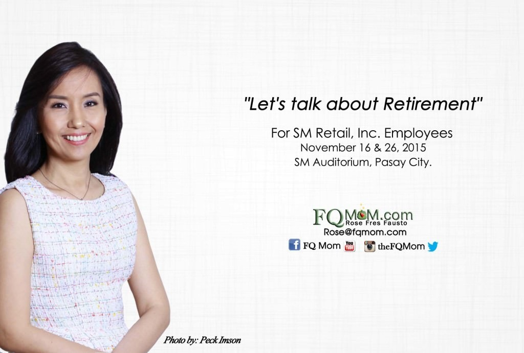 """Let's talk about Retirement"" (For SM Retail, Inc. Employees)"
