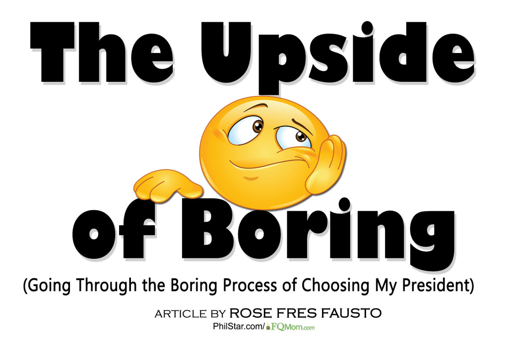 The Upside of Boring (Going Through the Boring Process of Choosing My President)
