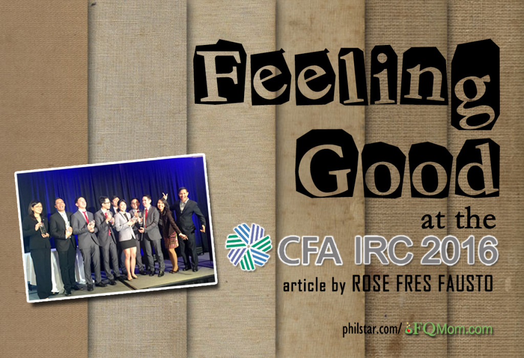 Feeling Good at the CFA IRC 2016