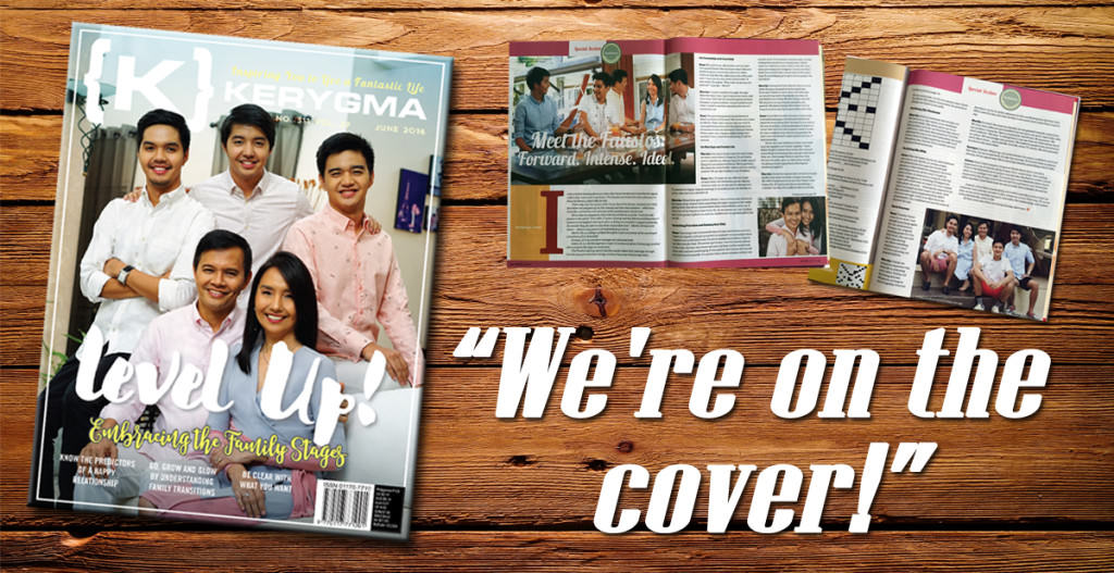 We're on the cover of Kerygma Magazine!