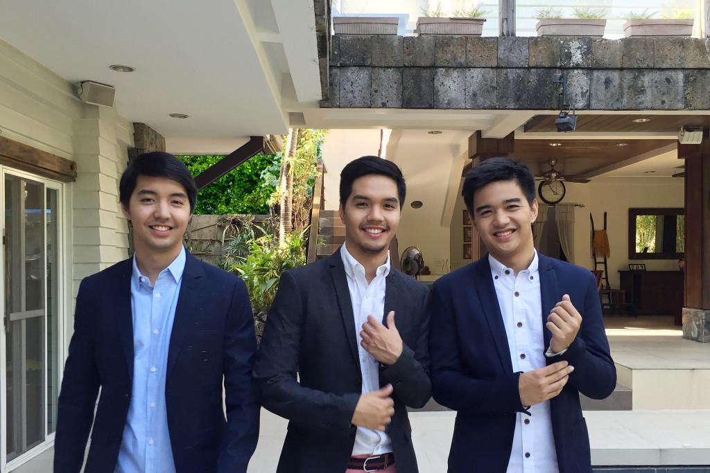 Left to right: Enrique (2nd son), Martin (1st son), Anton (3rd son)