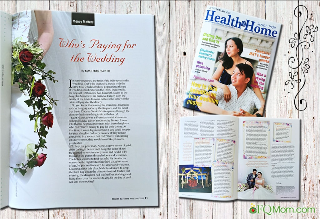 Health & Home Features My Article on Wedding