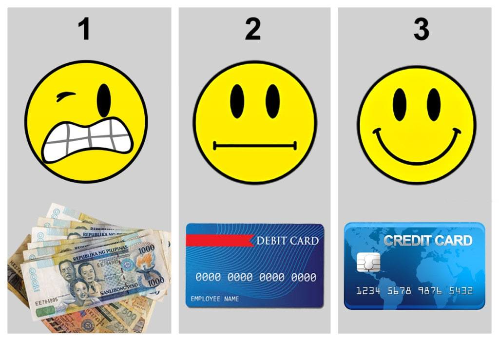 The pain of paying is felt most when paying in cash, a bit less with debit card, and least with credit card.