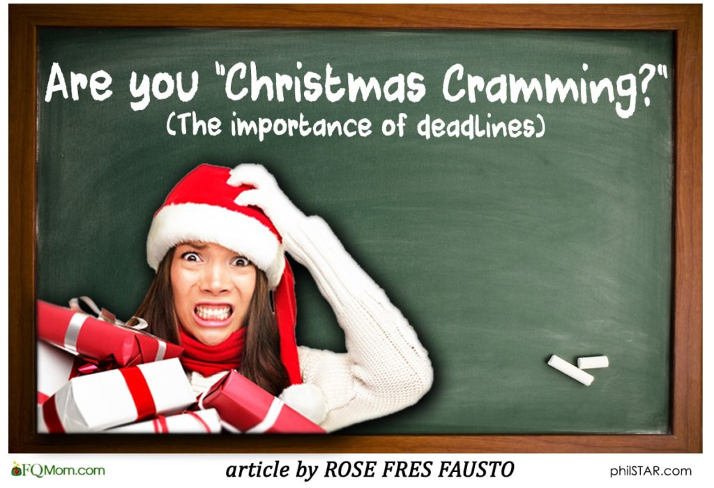 "Are you ""Christmas Cramming?"" (The importance of deadlines)"