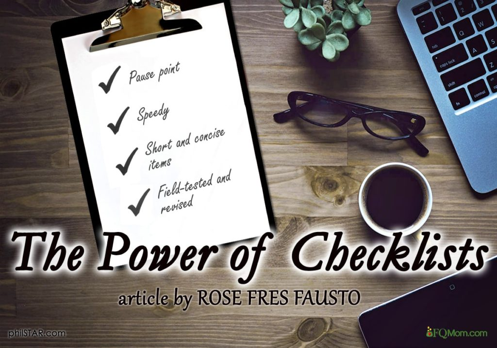 The Power of Checklists
