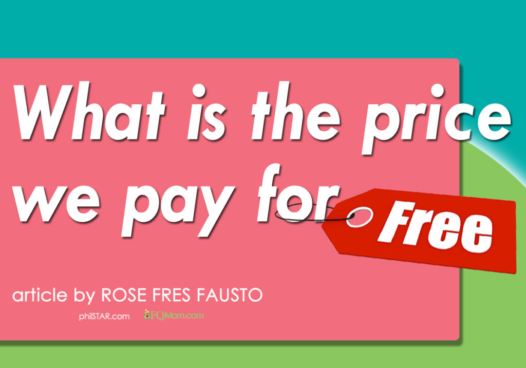 "What is the price we pay for ""free?"" (The Psychology of Money Series*)"