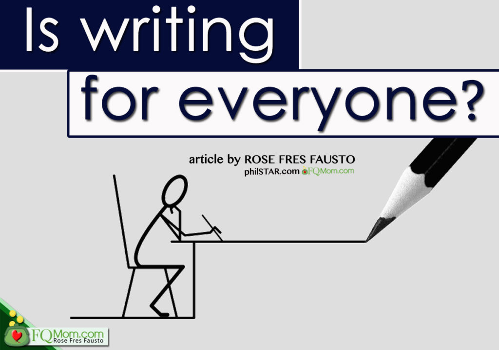 Is writing for everyone?