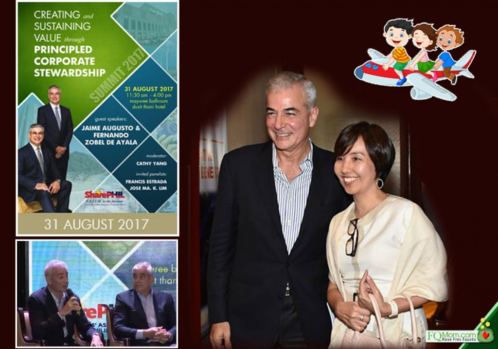 At the SharePhil 2017 Summit where the matter of the Zobel brothers riding economy class while their parents were in the business class was mentioned by a lady in the audience. Later, this author asked Fernando Zobel further about the matter.