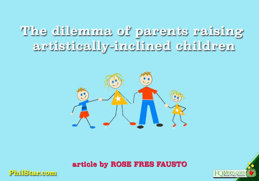 The dilemma of parents raising artistically-inclined children