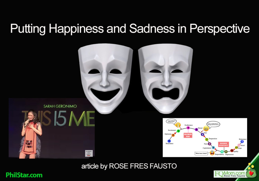 Putting happiness and sadness in perspective