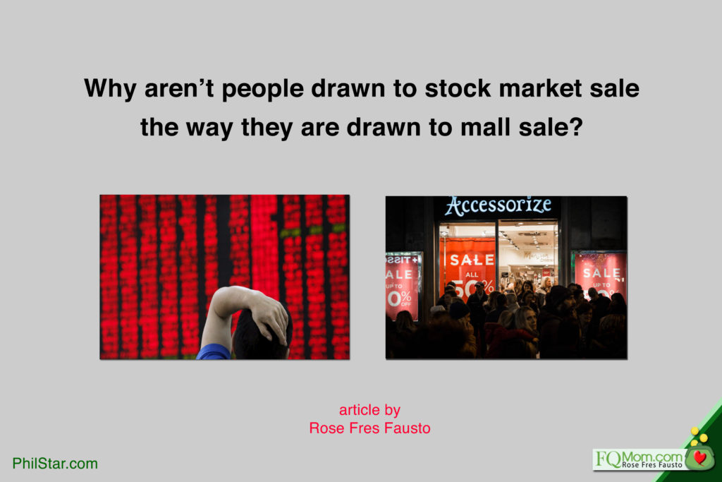 Why aren't people drawn to SALE in the stock market the way they're drawn to mall sale?