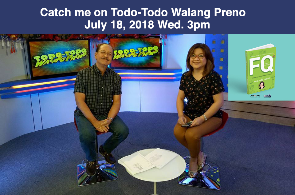 Catch me on DZMM Teleradyo show Todo-Todo Walang Preno