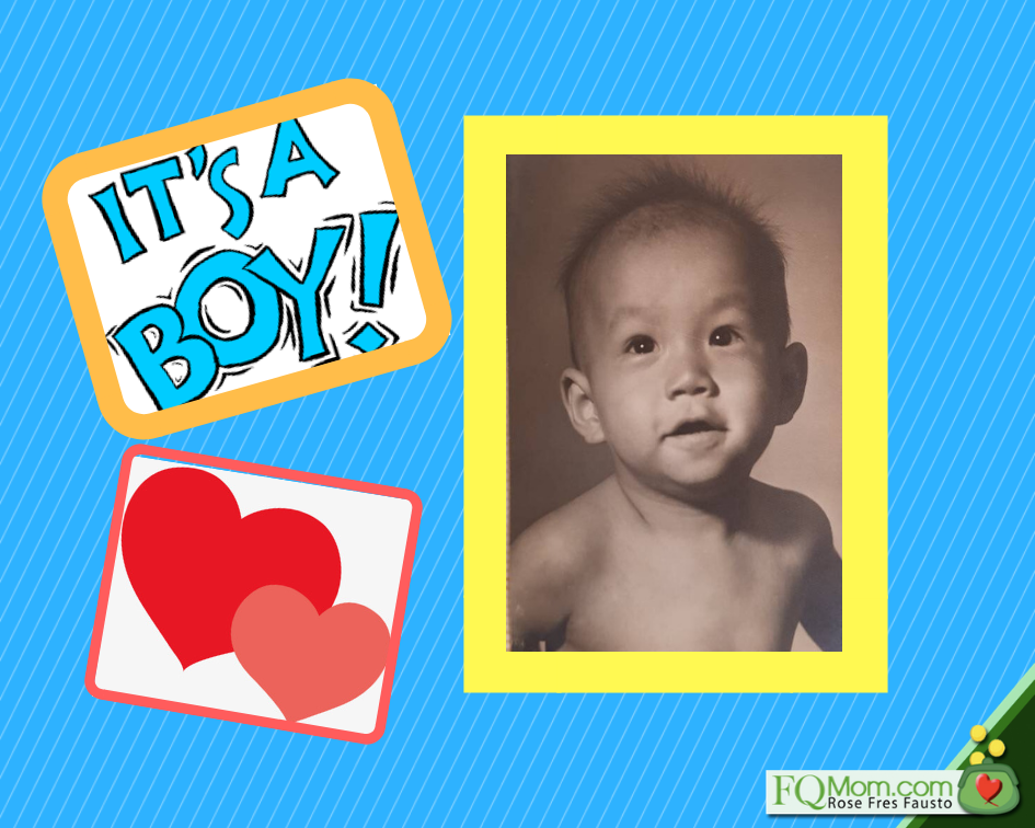 Edward Lee as a baby. His parents were delighted to have their third child, their only son!