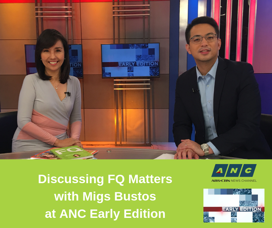 Discussing FQ Matters with Migs Bustos at ANC Early Edition