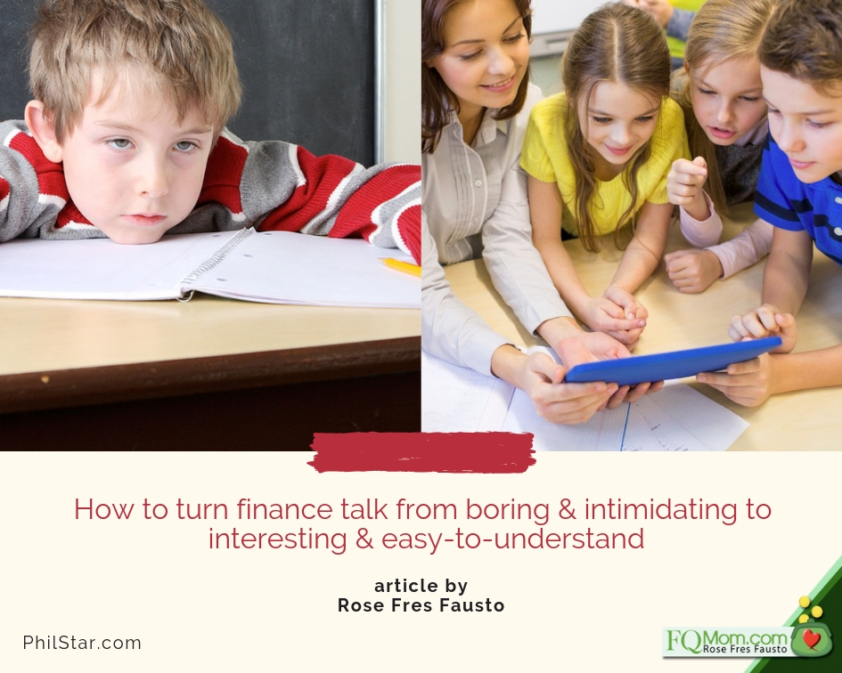 How to turn finance talk from boring & intimidating to interesting & easy-to-understand