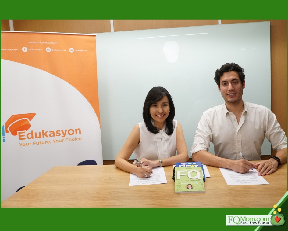 FQ Mom and Edukasyon.ph contract signing on March 1, 2019