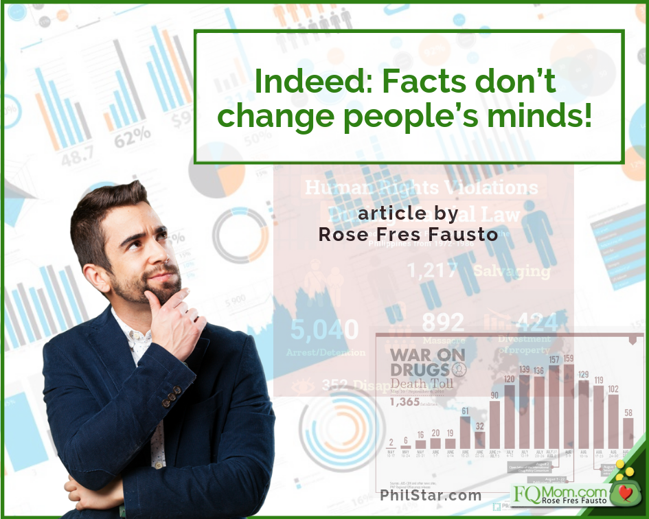 Indeed: Facts don't change people's minds! (Musings on #Halalan2019)