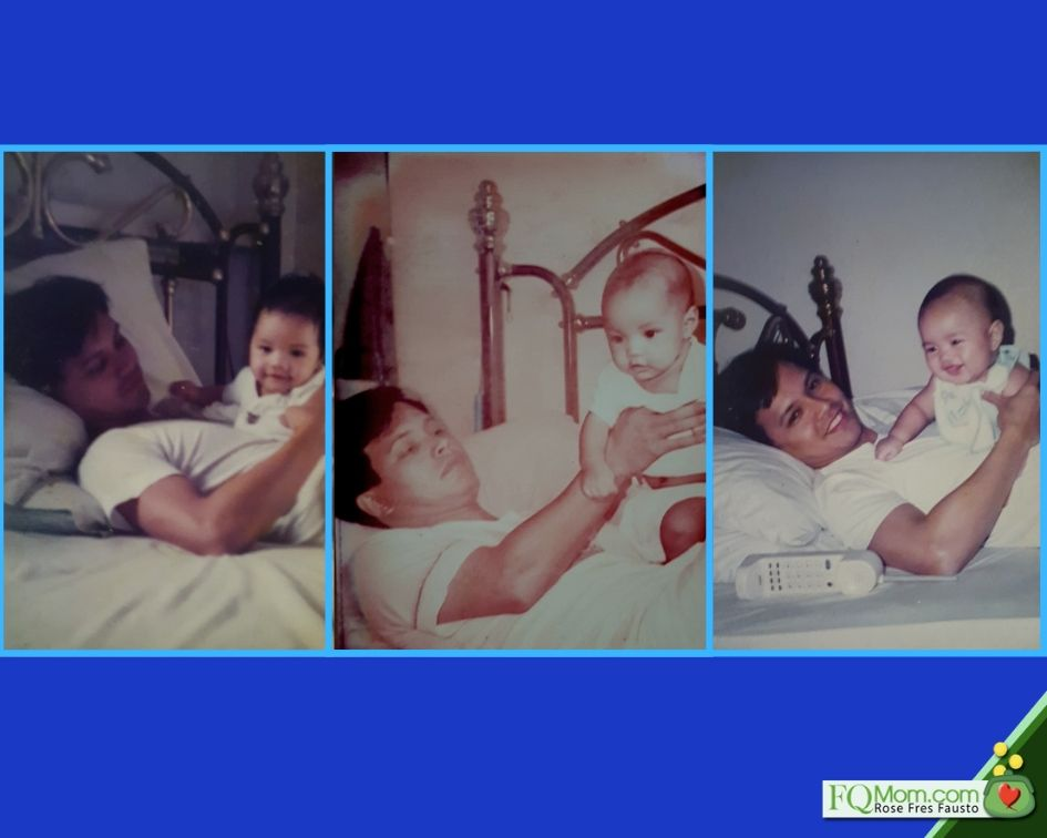 Marvin V. Fausto with his young sons Martin, Enrique, and Anton
