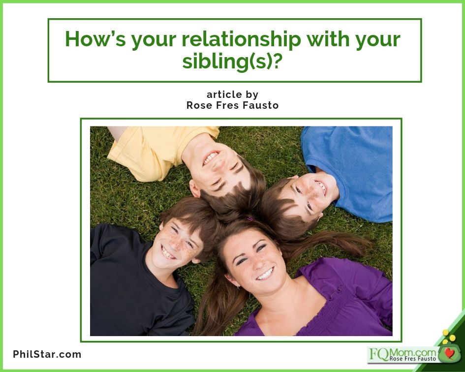 How's your relationship with your sibling(s)?