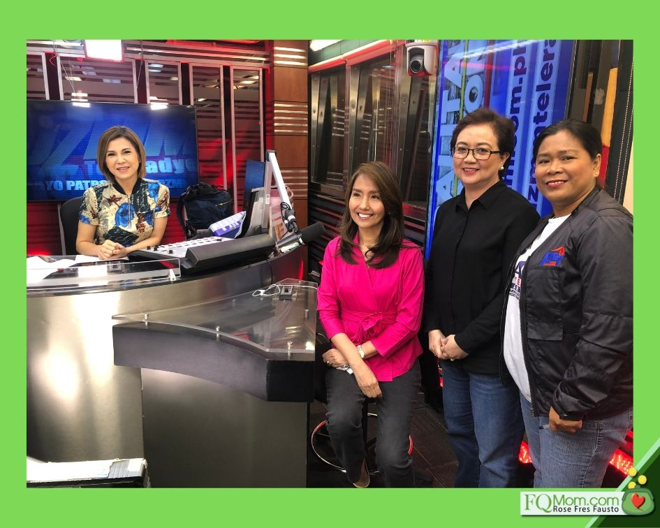 From L-R: Jing Castaneda, the author FQ Mom, GSIS Executive Vice President for Core Business Center Nora Malubay, and Alliance of Concerned Teachers national chairperson Jocelyn Martinez