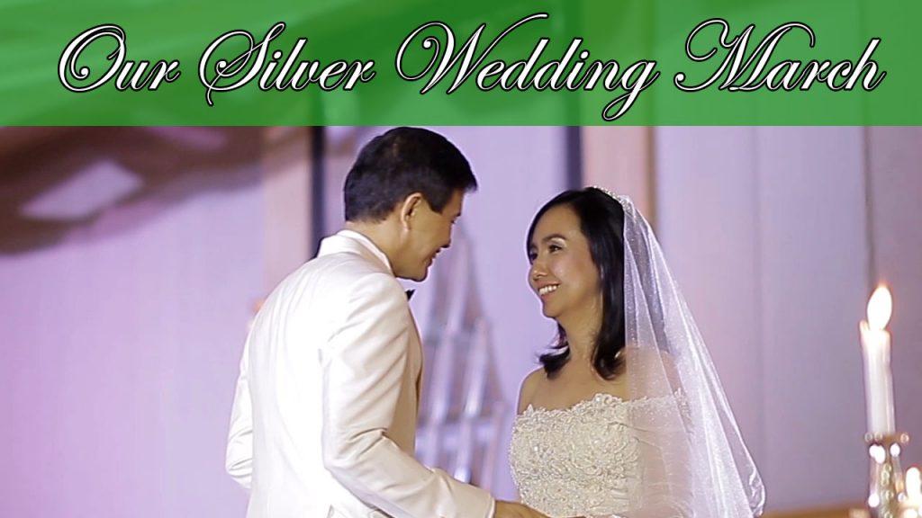 Our Silver Wedding March #ILoveWeddings