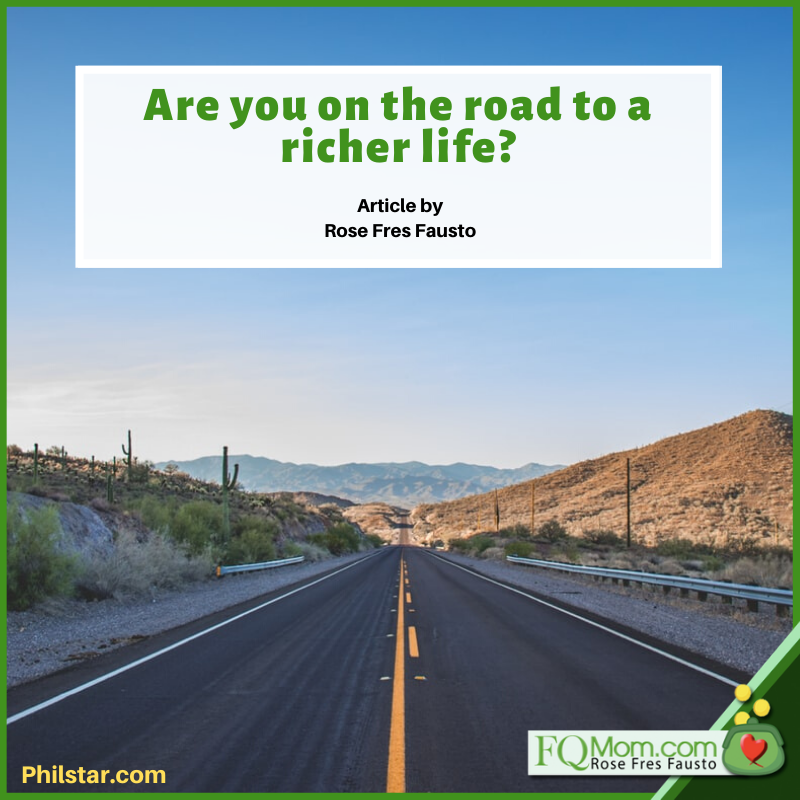 Are you on the road to a richer life?