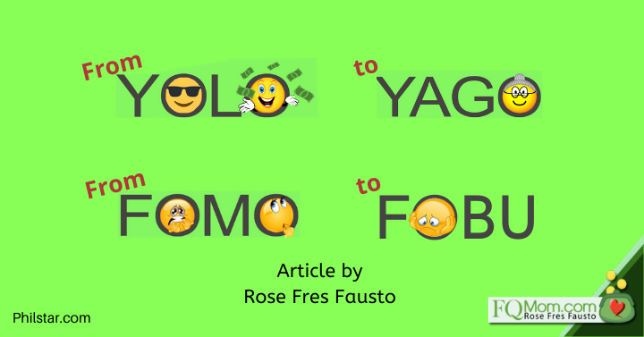 From YOLO to YAGO, From FOMO to FOBU