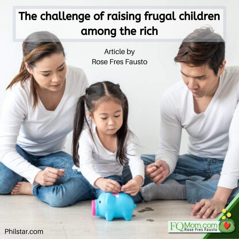 The challenge of raising frugal children among the rich