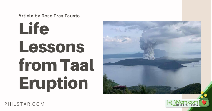 Life Lessons from Taal Eruption
