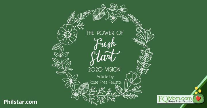 The Power of Fresh Start: 2020 Vision