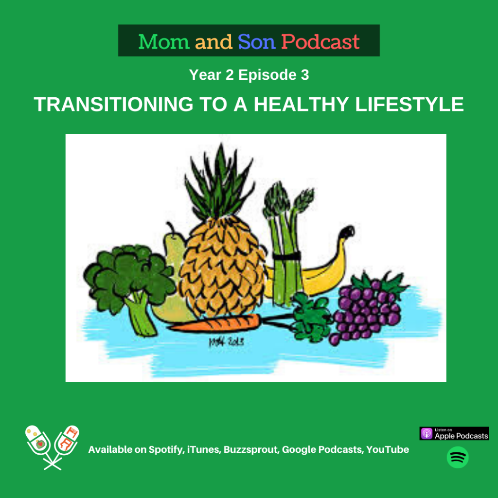 Mom and Son Podcast – Year 2 Episode 3 (TRANSITIONING TO A HEALTHY LIFESTYLE)