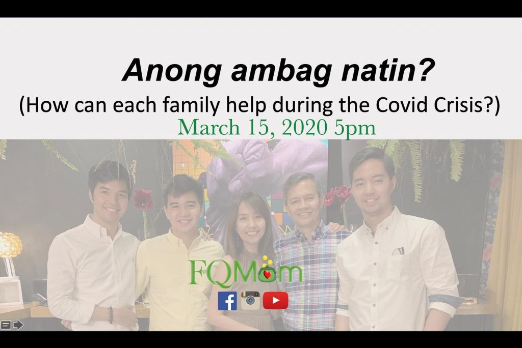 Anong Ambag Natin? (How can each family help during the COVID-19 crisis?)