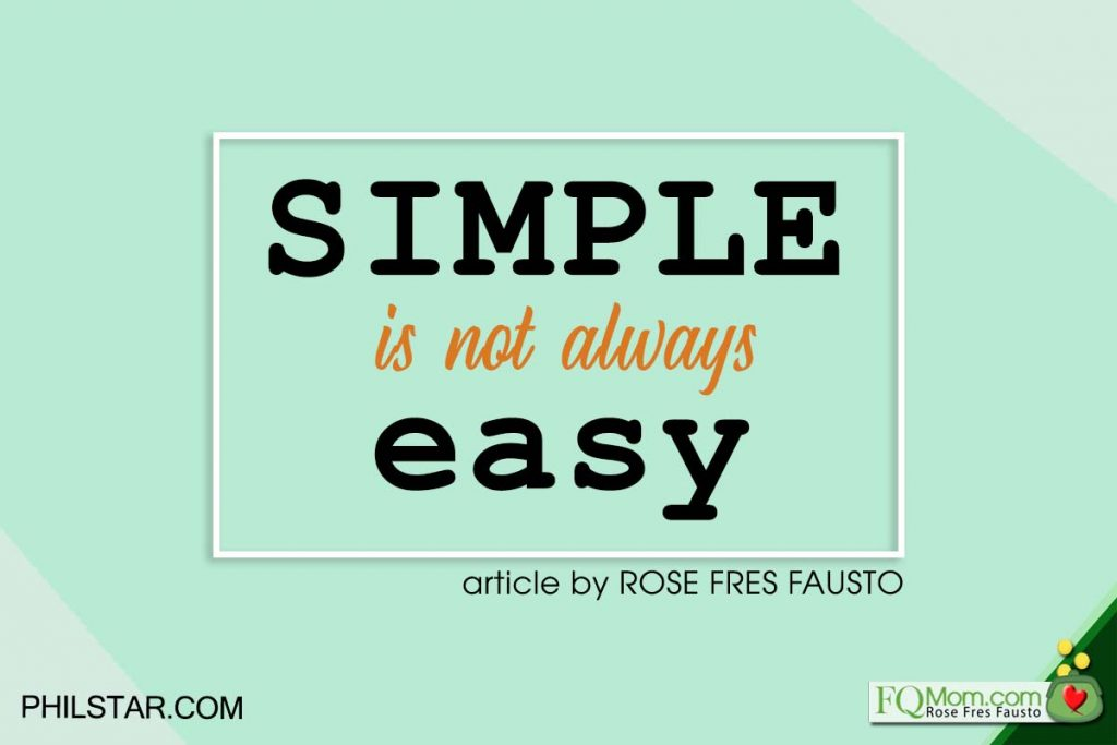 Simple Is Not Always Easy