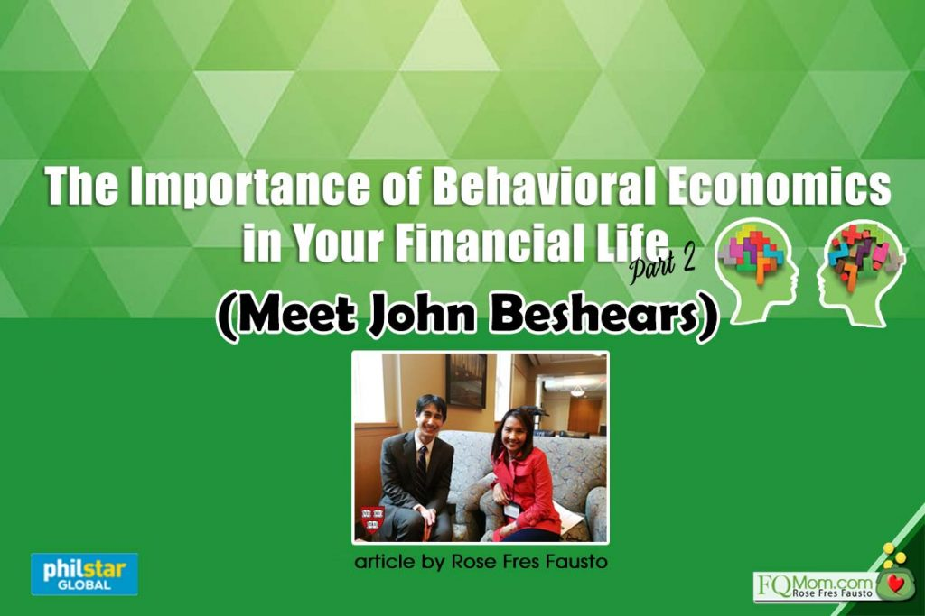 The Importance of Behavioral Economics in Your Financial Life Part 2 (Meet John Beshears)